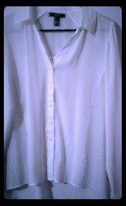 Alfani Black and white Polka dot blouse